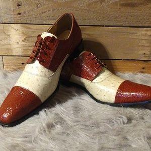Giorgio Brutini Shoes Cognac/Beige - NEW